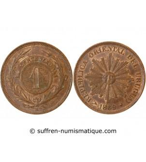 URUGUAY - 1 CENTESIMO 1869 H
