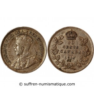 CANADA, GEORGE V - 10 CENTS...