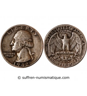 USA - 25 CENTS ARGENT...