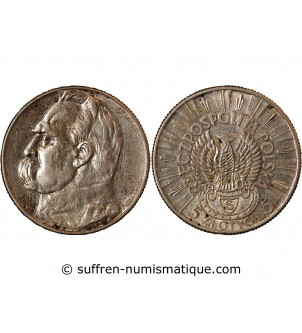POLOGNE - 5 ZLOTYCH ARGENT...