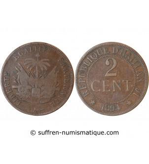 HAITI - 2 CENTIMES 1894 A...