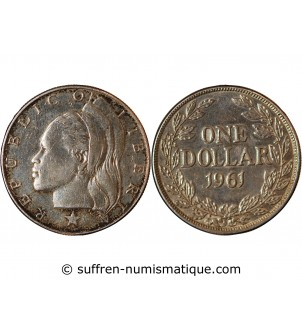 LIBERIA - 1 DOLLAR ARGENT 1961