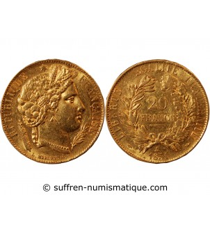 CERES - 20 FRANCS OR 1851...