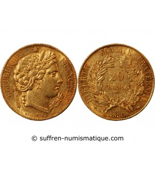 CERES - 20 FRANCS OR 1850...