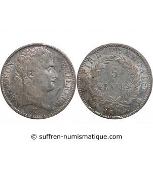 5 FRANCS NAPOLEON I  1809 B...