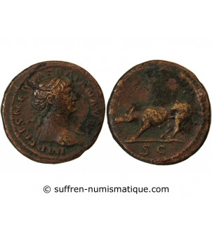 TRAJAN - QUADRANS 115 ROME...
