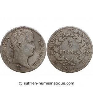 5 FRANCS NAPOLEON I  1811 H...