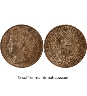 CERES - 50 CENTIMES 1894 A...
