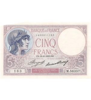 FRANCE - 5 FRANCS VIOLET...