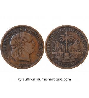 HAITI - 2 CENTIMES 1881