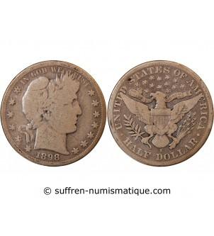 """USA - 1/2 DOLLAR """"Barber..."""