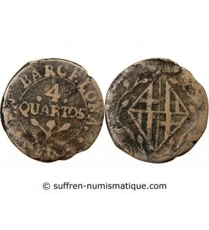 CATALOGNE - 4 QUARTOS 1808...