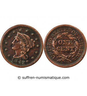 """USA - ONE CENT """"Braided..."""