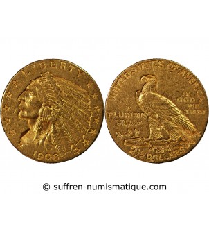 USA, INDIEN - 2,5 DOLLARS...