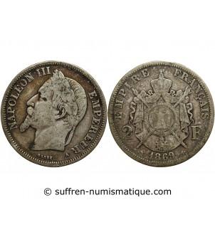 2 FRANCS NAPOLEON III 1869...