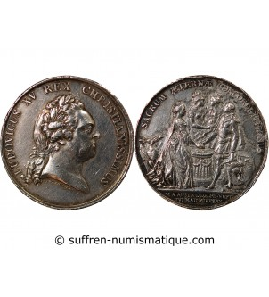 LOUIS XV - MEDAILLE ARGENT...