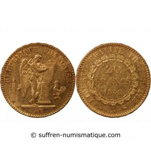 GENIE - 20 FRANCS OR 1849 A...