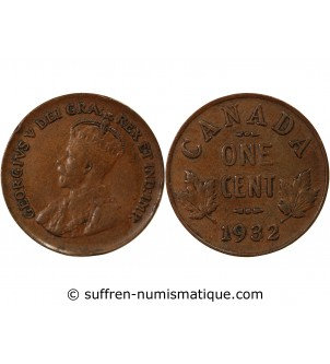 CANADA, GEORGES V - 1 CENT...