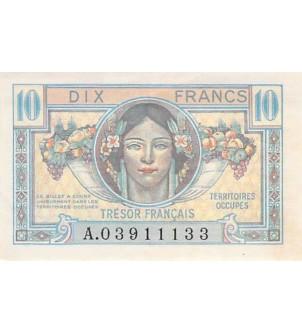 TRÉSOR FRANCAIS - 10 FRANCS...