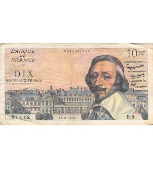 FRANCE, RICHELIEU - 10 NF...