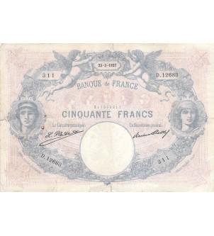 FRANCE - 50 FRANCS BLEU ET...