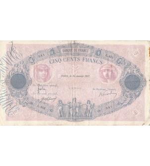 FRANCE - 500 FRANCS BLEU ET...