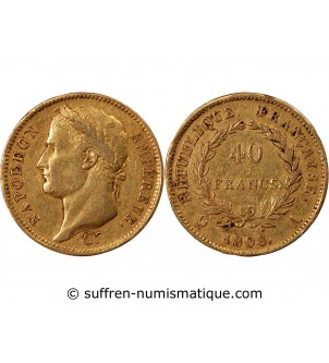 NAPOLEON Ier - 40 FRANCS OR...