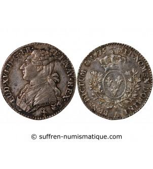 LOUIS XVI - 1/5 ECU 1775 A...