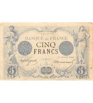 FRANCE, NOIR - 5 FRANCS...