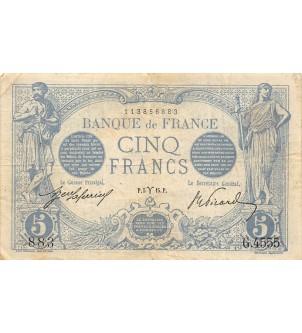 FRANCE, BLEU - 5 FRANCS...