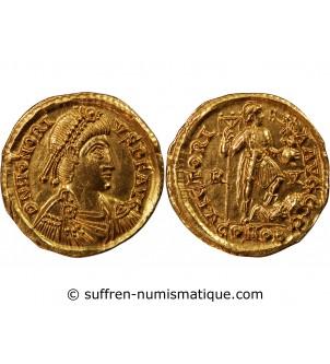 HONORIUS - SOLIDUS OR 393 /...