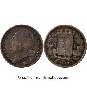 LOUIS XVIII - 1 FRANC 1822...