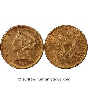 USA, LIBERTY - 5 DOLLARS OR...