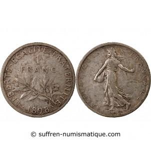 SEMEUSE - 1 FRANC ARGENT 1898