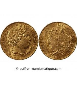 CERES - 20 FRANCS OR 1851...