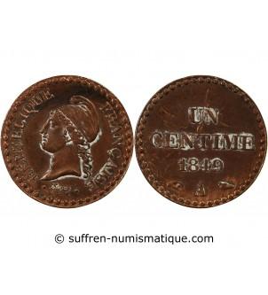 DUPRÉ - 1 CENTIME 1849 A PARIS