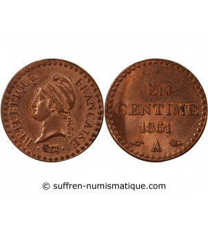 DUPRÉ - 1 CENTIME 1851 A PARIS