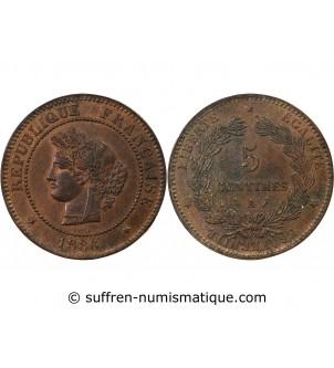CERES - 5 CENTIMES 1886 A...