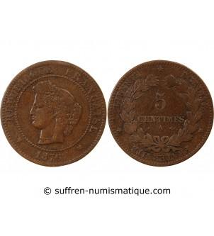 CERES - 5 CENTIMES 1876 A...