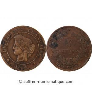 CERES - 5 CENTIMES 1874 A...