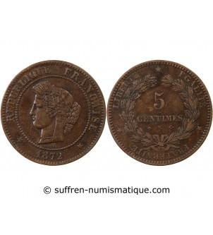 CERES - 5 CENTIMES 1872 K...