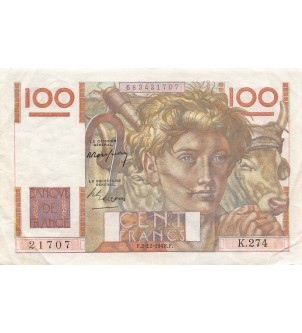 FRANCE - 100 FRANCS JEUNE...