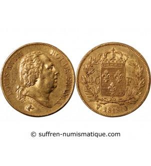 LOUIS XVIII - 40 FRANCS OR...