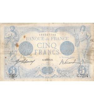 FRANCE - 5 FRANCS BLEU...