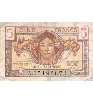TRÉSOR FRANCAIS - 5 FRANCS...