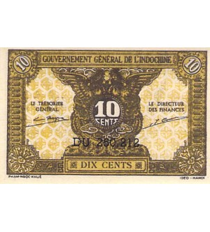INDOCHINE - 10 CENTS 1942