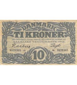 DANEMARK - 10 KRONER 1948