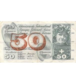 SUISSE - 50 FRANCS 02/04/1964