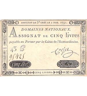 ASSIGNAT, LOUIS XVI - 5...