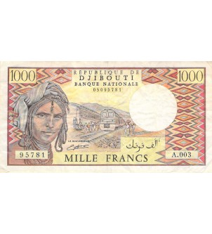 DJIBOUTI - 1000 FRANCS 1988